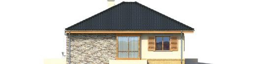 Francis G1 - Projekt domu Franczi G1 - elewacja lewa