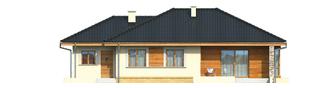 Projekt domu Franczi G1 - elewacja tylna