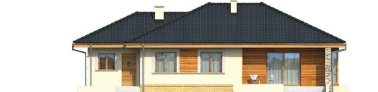 Francis G1 - Projekt domu Franczi G1 - elewacja tylna
