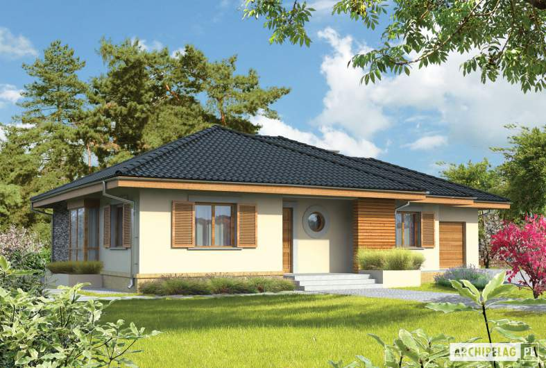 Projekt domu Franczi G1 - wizualizacja frontowa