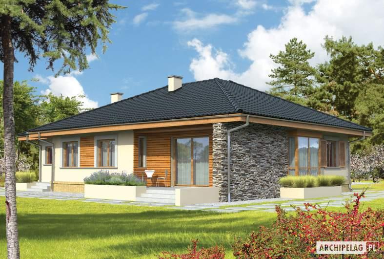 Projekt domu Franczi G1 - wizualizacja ogrodowa