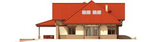 Projekt domu Edek G2 01 - elewacja lewa