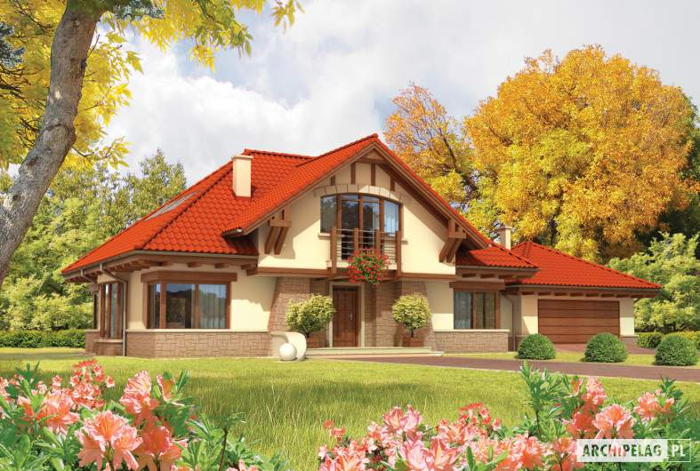 Projekt domu Edek G2 01 - wizualizacja frontowa