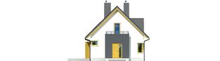 Projekt domu Julek - elewacja frontowa