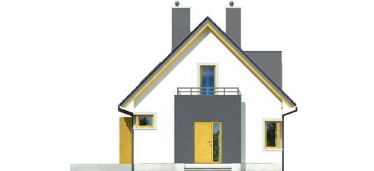 July - Projekt domu Julek - elewacja frontowa