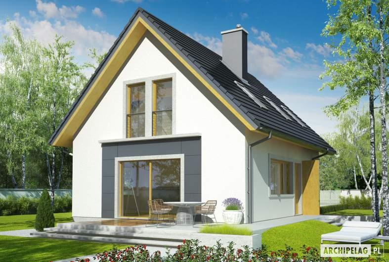 Projekt domu Julek - wizualizacja ogrodowa