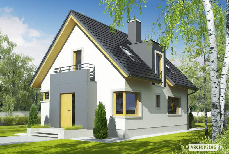 Projekt domu Julek - wizualizacja frontowa