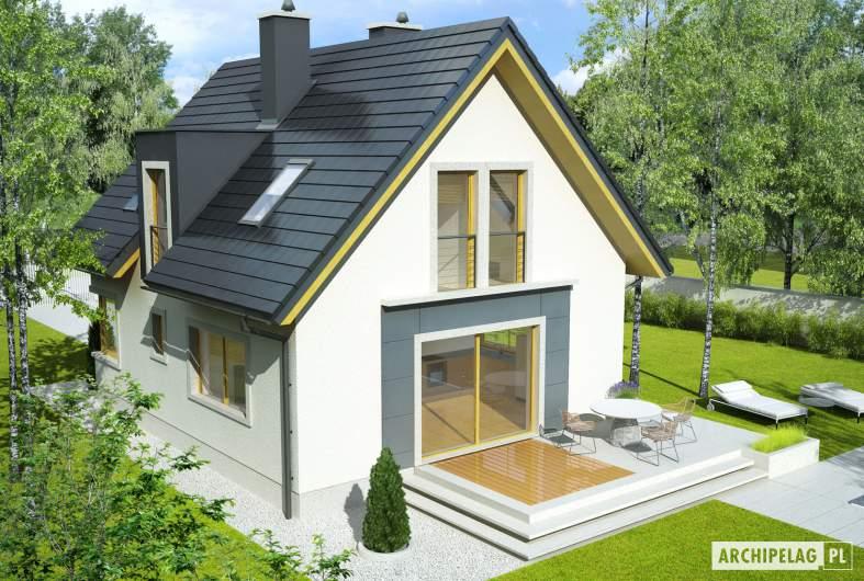 Projekt domu Julek - widok z góry