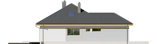 Projekt domu Astrid (mała) II G1 - elewacja lewa