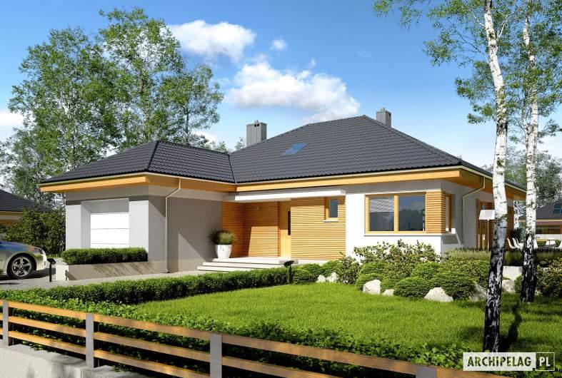 Projekt domu Astrid (mała) II G1 - wizualizacja frontowa