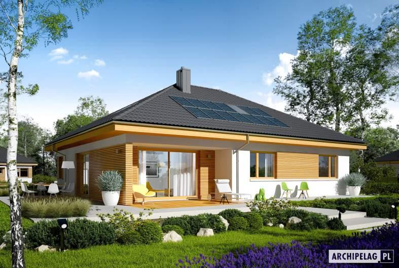 Projekt domu Astrid (mała) II G1 - wizualizacja ogrodowa