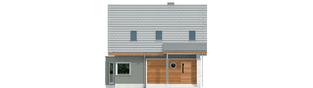 Projekt domu Kim (wersja A) - elewacja frontowa