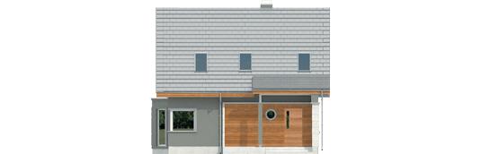Kim A - Projekt domu Kim (wersja A) - elewacja frontowa