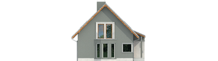 Projekt domu Kim (wersja A) - elewacja lewa