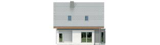 Projekt domu Kim (wersja A) - elewacja tylna