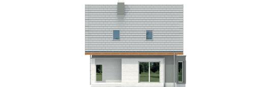 Kim A - Projekt domu Kim (wersja A) - elewacja tylna