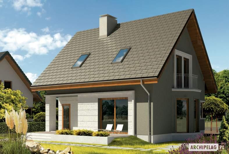 Projekt domu Kim (wersja A) - wizualizacja ogrodowa