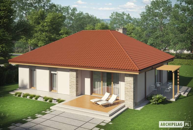 Projekt domu Helena ENERGO - Projekty domów ARCHIPELAG - Helena ENERGO - widok z góry