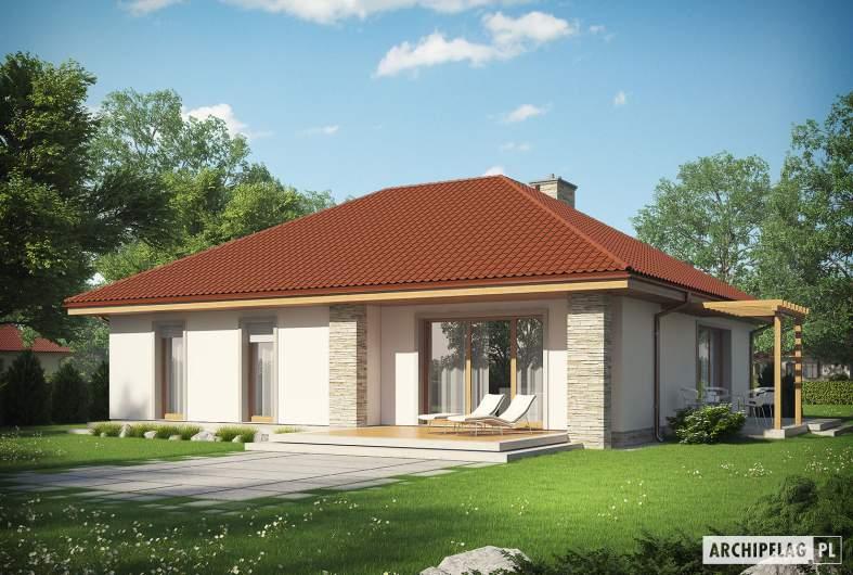 Projekt domu Helena ENERGO - Projekty domów ARCHIPELAG - Helena ENERGO - wizualizacja ogrodowa