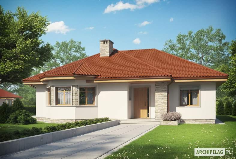 Projekt domu Helena ENERGO - Projekty domów ARCHIPELAG - Helena ENERGO - wizualizacja frontowa