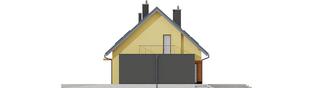 Projekt domu Marcin II G2 - elewacja lewa