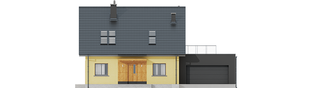 Projekt domu Marcin II G2 - elewacja frontowa