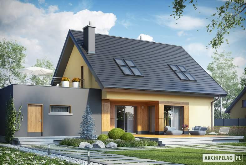 Projekt domu Marcin II G2 - wizualizacja ogrodowa