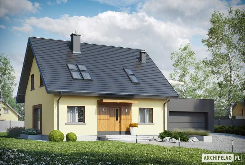 Projekt domu Marcin II G2 - wizualizacja frontowa