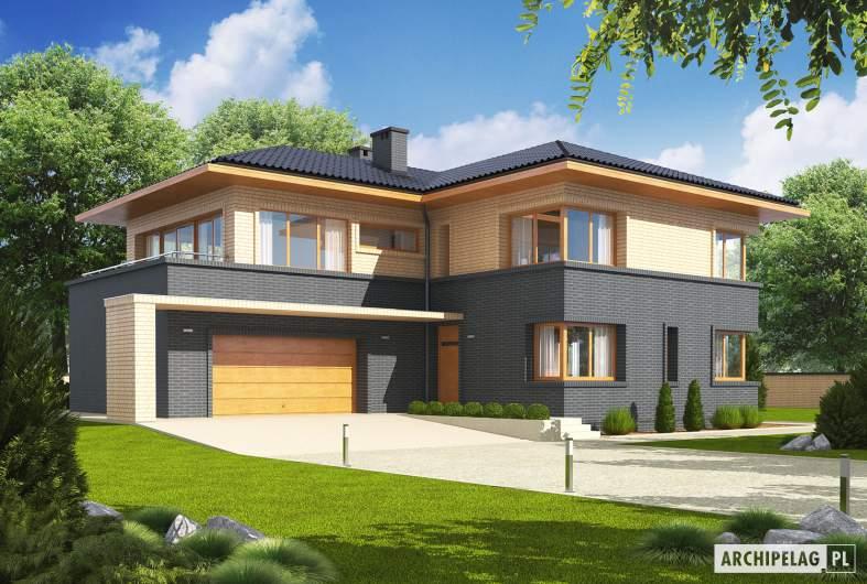 Projekt domu Lorenzo G2 - wizualizacja frontowa