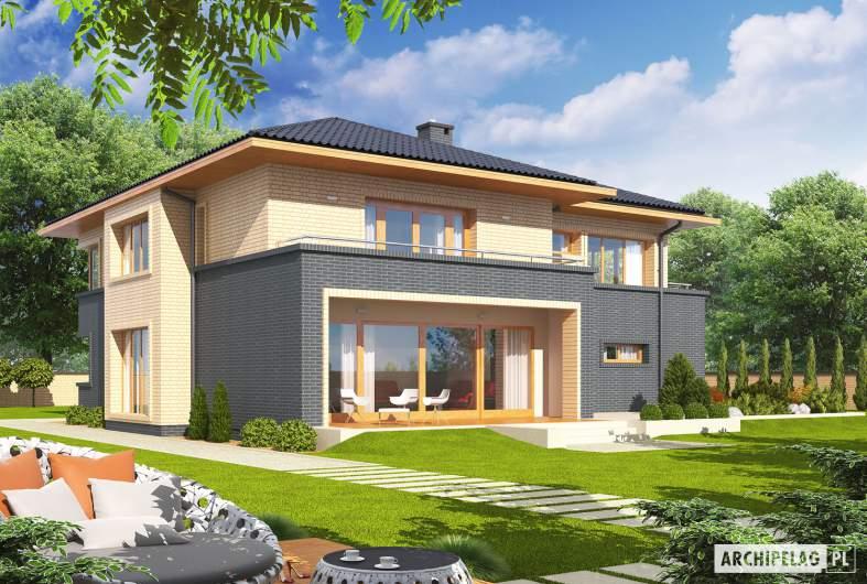Projekt domu Lorenzo G2 - wizualizacja ogrodowa