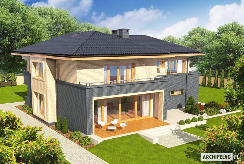 Projekt domu Lorenzo G2 - widok z góry