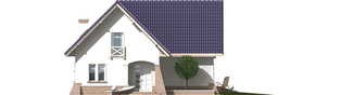 Projekt domu Frania - elewacja frontowa