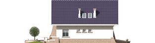 Projekt domu Frania - elewacja tylna