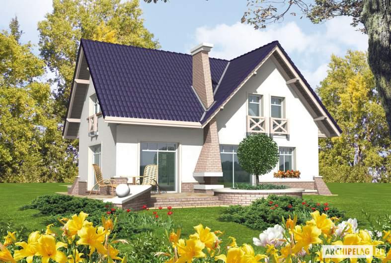 Projekt domu Frania - wizualizacja ogrodowa