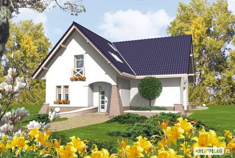 Projekt domu Frania - wizualizacja frontowa