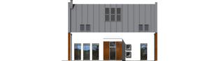 Projekt domu Crayon - elewacja frontowa