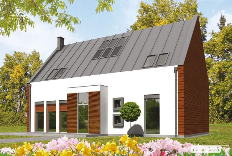 Projekt domu Crayon - wizualizacja frontowa
