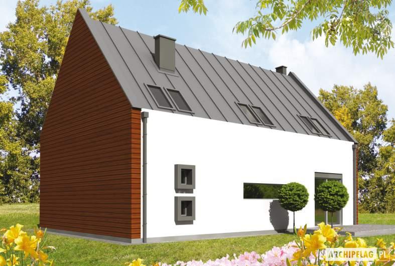 Projekt domu Crayon - wizualizacja ogrodowa