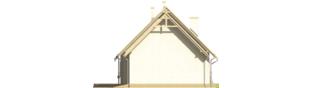 Projekt domu Śnieżynka IV G2 - elewacja prawa