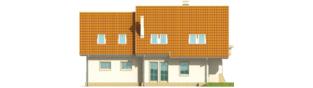 Projekt domu Śnieżynka IV G2 - elewacja lewa