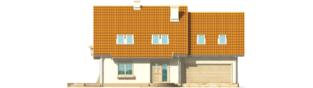Projekt domu Śnieżynka IV G2 - elewacja frontowa