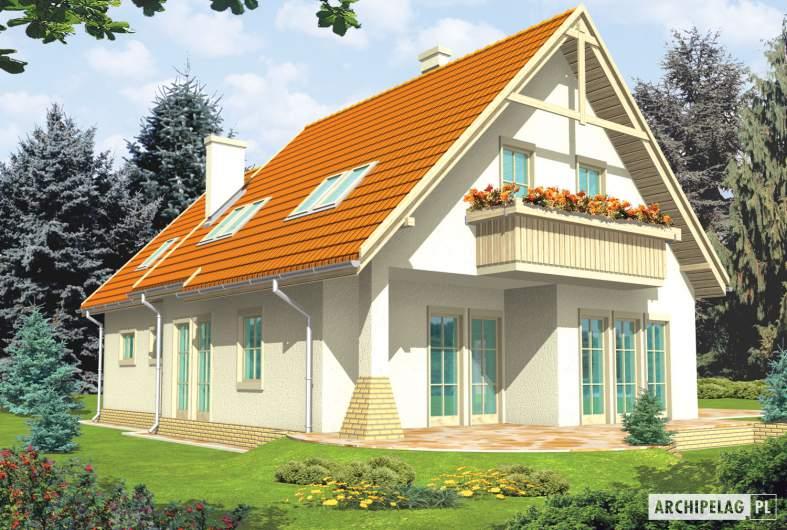 Projekt domu Śnieżynka IV G2 - wizualizacja ogrodowa