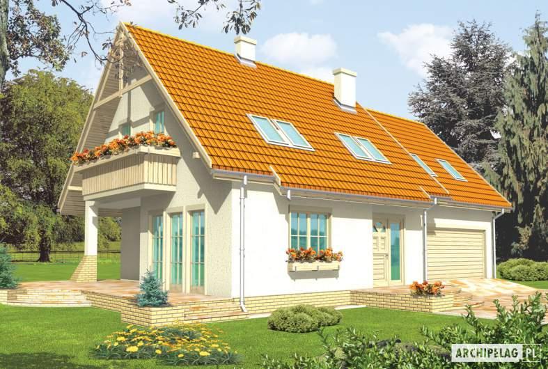 Projekt domu Śnieżynka IV G2 - wizualizacja frontowa