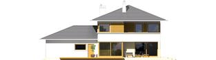Projekt domu Diego G2 Leca® DOM - elewacja tylna