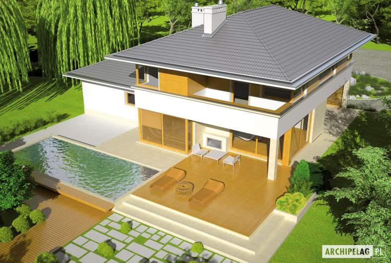 Projekt domu Diego G2 Leca® DOM - widok z góry
