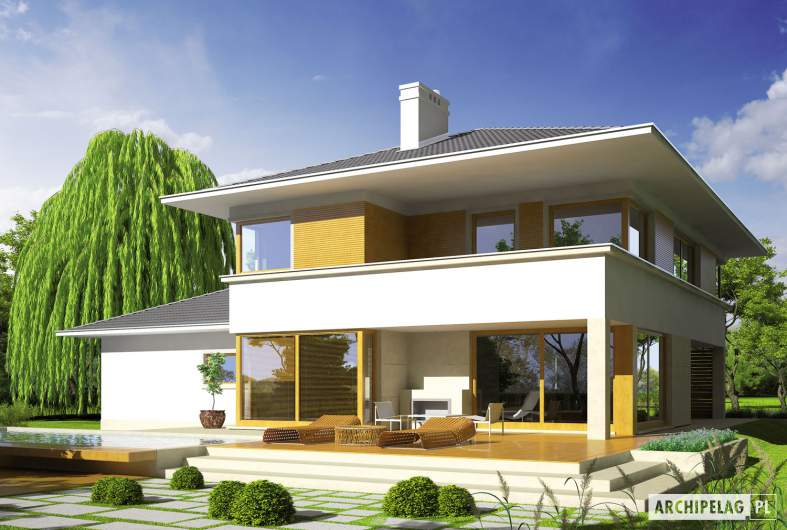 Projekt domu Diego G2 Leca® DOM - wizualizacja ogrodowa