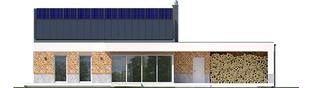 Projekt domu EX 11 G2 (wersja A) ENERGO PLUS - elewacja tylna