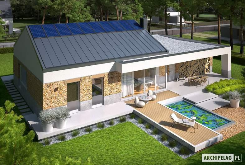 Projekt domu EX 11 G2 (wersja A) - widok z góry