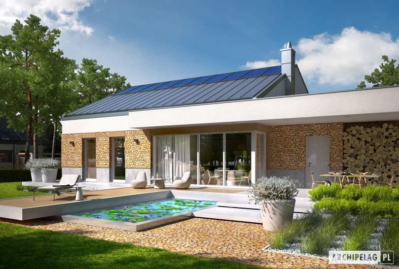 Projekt domu EX 11 G2 (wersja A) - wizualizacja ogrodowa