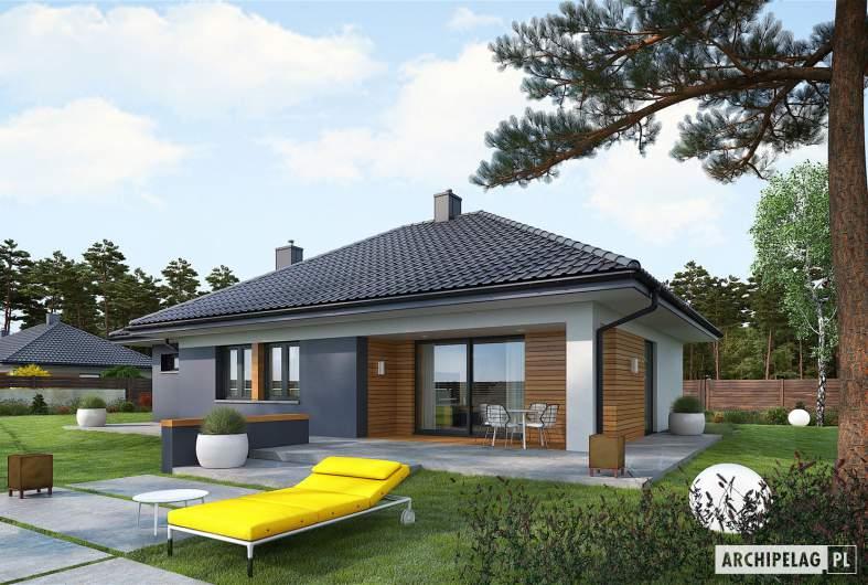 Projekt domu Mini 1 G1 - wizualizacja ogrodowa
